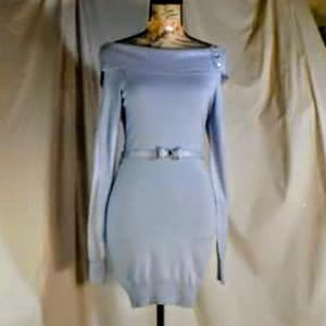 Nwot! Candies off the shoulder bow belted dress S